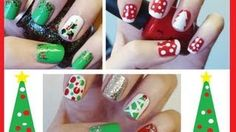 christmas nails - YouTube