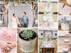 pink and green rustic wedding inspiration