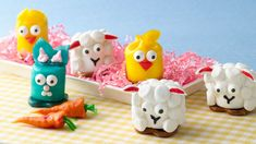 Your kids will have fun helping assemble these playful spring animals--perfect for a weekend activity or some silly Easter fun!