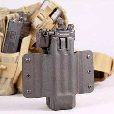 HTC Gen 3 Radio Holder Kydex Sheath, Kydex Holster, Bug Out Bag, Military Gear, Ham Radio, Tactical Gear, Radios, Firearms, Edc