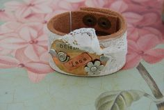 A personal favorite from my Etsy shop https://www.etsy.com/listing/459675712/girly-leather-lace-cuff