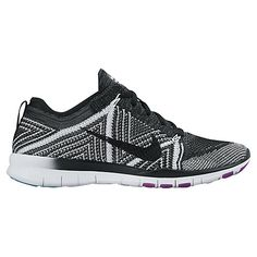 988b312e6cb1f Buy Black White Nike Free TR Flyknit Women s Cross Trainers from our Womens  Shoes