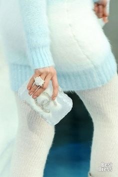 Chanel light blue and knit