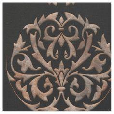 PORTO CRISTO: Stonework on Black Fabric