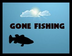 Gone Fishing  } Wall Art sign Plaque Home decor Wood rustic fish country theme #Handmade #Country
