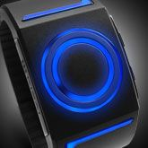 LED Watch Design with USB Charging and Three Light Up Animations: Kisai Seven