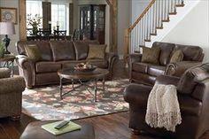 Charmant Nebraska Furniture Mart U2013 Lane 2 Piece Espresso Fabric Living Room Set  (upstairs Furniture
