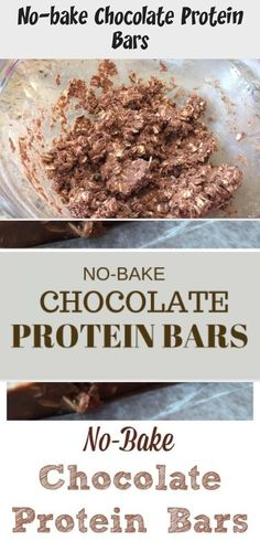 No-Bake Chocolate Protein Bars - uses protein powder Protein Powder Pancakes, Keto Protein Powder, Protein Powder Recipes, Vanilla Protein Powder, Baker Recipes, Snack Recipes, Dessert Recipes, Natural Whey Protein, Chocolate Protein Bars