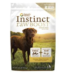 Nature's Variety® Instinct® Raw Boost Grain Free Dog Food | Dry Food | PetSmart $67.99 for 23 lb