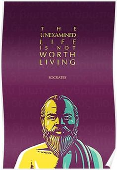 'Socrates quote: The unexamined life' Poster by Elvin Dantes Socrates Quotes, Wisdom Quotes, Qoutes, Quotations, Enough Is Enough Quotes, Life Poster, Poster Quotes, Philosophical Quotes, Birthday Quotes For Him