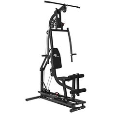 Goplus Multifunctional Home Gym Station Workout Machine Total Body Training Steel (Silver) Gym Workout Chart, Step Workout, Body Training, Weight Training, Strength Training, Home Gym Exercises, Gym Workouts, Home Gym Equipment, No Equipment Workout