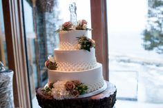 Wedding cake Cake by Flour Girl, South Lake Tahoe Photo By Eric Turner Photography