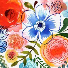 Margaret Berg Art: Artisanal Floral Square