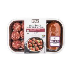 Easy to Cook Halaal Free Range Beef Frikkadels Basil Sauce, Free Range, Oven Baked, Poultry, Dog Food Recipes, Sausage, Beef, Baking, Easy
