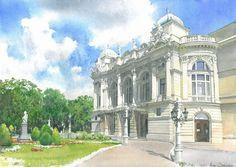 作者的水彩很棒,推荐搜索RT @CG插画控:波兰水彩画家 Michal Suffczynski 漂亮的水彩欧式建筑插画