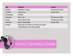 PH Weekly workout plan