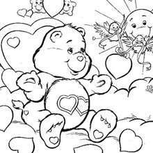 Love-a-lot Bear coloring page - Coloring page - CHARACTERS coloring pages - TV SERIES CHARACTERS coloring pages - CARE BEARS coloring pages - LOVE-A-LOT BEAR coloring pages