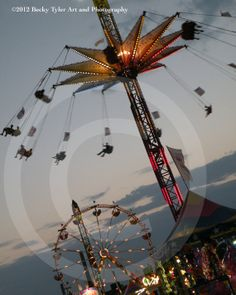 Amusement Park Rides Fine Art Photo Print by BeckyTylerArt on Etsy, $20.00