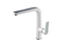 Gloss white and Chrome Sink Mixer