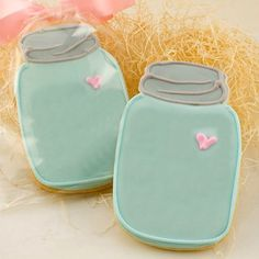 One dozen 12 Mason Jar cookies Wedding Favors by LoveBirdBakery.RUTLAN like the invites Fancy Cookies, Valentine Cookies, Cut Out Cookies, Iced Cookies, Cute Cookies, Royal Icing Cookies, Cupcake Cookies, Sugar Cookies, Easter Cookies