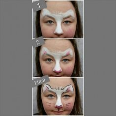 Easy 3 Step Kitty Face Painting (for the little wigglers!)