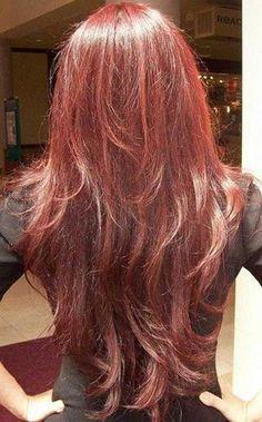28 Layered Haircuts for Long Hair  redhaircolor Cabello Cortito 116c32eb12b2