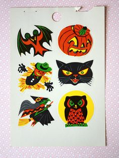 Vintage 1960s Dennison Pressaply Halloween by kitschparade on Etsy, $2.50