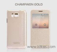 Nillkin Sparkle Leather Case Samsung Galaxy Alpha - Rp 135.000 Champaign Gold, Samsung Galaxy Alpha, Leather Case, Samsung Cases, Sparkle, Iphone, Cover, Accessories, Leather Pencil Case
