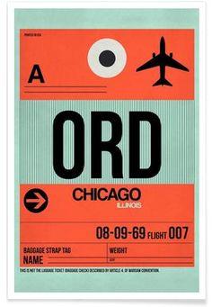 ORD-Chicago - Naxart - Premium Poster