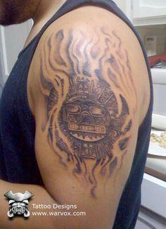 Inti Sun God Tattoo » ₪ AZTEC TATTOOS ₪ Aztec Mayan Inca Tattoo Designs Instant Download
