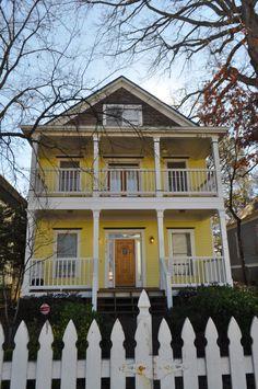 Yellow Victorian mansion