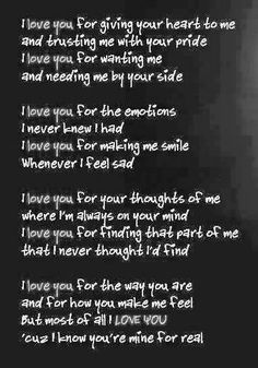 I LOVE YOU a poem u'd definitely wanna dedicate it to someone..read it once..repin if u like it..
