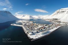 Winter day in Isafjordur Iceland. by haukursig