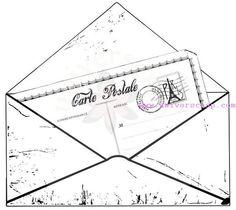 Enveloppe & Carte - P Tampons, Stencils, Scrapbooking, Fabric, Cards, Card Ideas, Envelope, Notebook, Travel