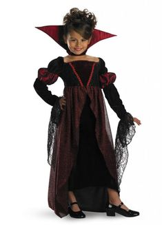 Disguise Girls Princess Vampira Kids Child Fancy Dress Party Halloween Costume M 78 -- Learn more at the picture link. (This is an affiliate link). Girls Vampire Costume, Vampire Costumes, Witch Costumes, Scary Costumes, Boy Costumes, Children Costumes, Halloween Mode, Halloween Fashion, Halloween Costumes For Kids