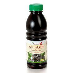Aroniasaft Bio Suisse 5 dl - die geballte Power der Aronia Beeren! Vitamin E, Sauce Bottle, Soy Sauce, Superfoods, Vitamins And Minerals, Natural Home Remedies, Mandarin Oranges, Berries, Super Foods