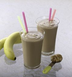 Chocolate-Peanut Butter-Banana Smoothie