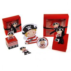 Cajas de dulces bebé pirata cumpleaños
