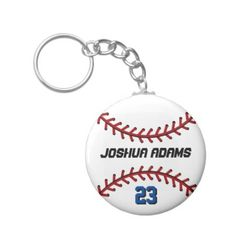 Sports Team White Baseball Keychain - click/tap to personalize and buy
