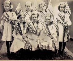 Girls dressed in Flags  1900