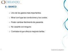 Banco de la presentación de www.creandowebconsulting.es