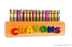 20 best handmade wooden crayon holders images on pinterest chalk
