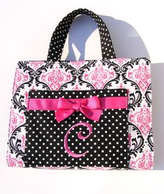 Monogrammed Purse-Style Bible Cover: Perfect for church!