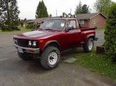 1989 chevy luv step side - Mine started out Yellow but ended up this colour. Mini Trucks, Gm Trucks, Cool Trucks, Chevy Trucks, Pickup Trucks, Cool Cars, Classic Trucks, Classic Cars, Chevy Luv