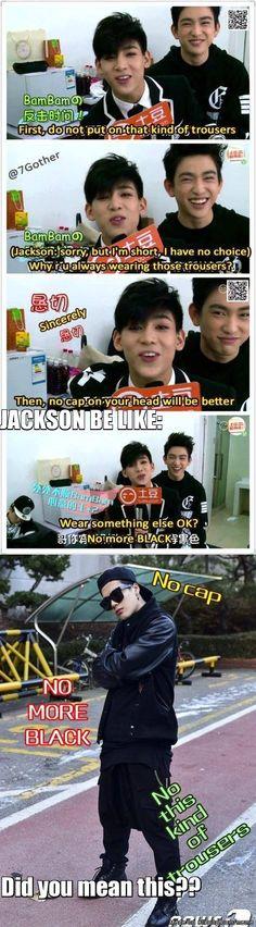JACKSON PLEASE!! NO MORE BLACK!!! Eomma's and Fake Maknae's PETITION!! :D | allkpop Meme Center