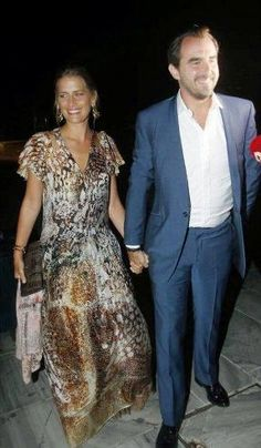 Noblesse et Royautés:  50th Wedding Anniversary Celebration for King Constantine and Queen Anne-Marie, Athens, Greece, September 17, 2014-Princess (Tatiana) and Prince Nikolaos
