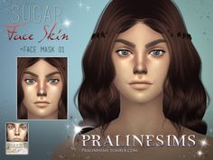 Sims 4 CC's - The Best: Face Skin by Pralinesims