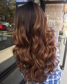 Auburn Highlights For Dark Brown Hair