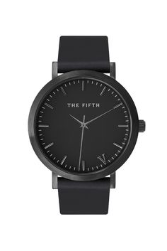 The perennial performer. The All Black has a black Italian leather band, brushed black casing and silver indexing. Because every Melburnian knows that All-Black everything goes with... everything.