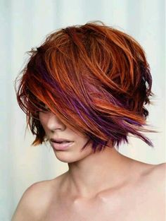 Red, Purple, orange highlights